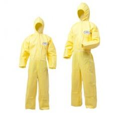 [43401] 크린가드 A40 XP후드 보호용작업복 노란색 (C팩) 대형(L),(XL)